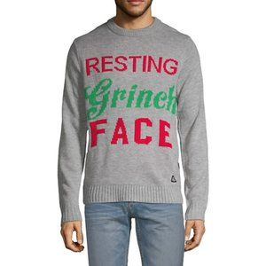 """American Stitch Resting """"Grinch Face"""" Sweater"""